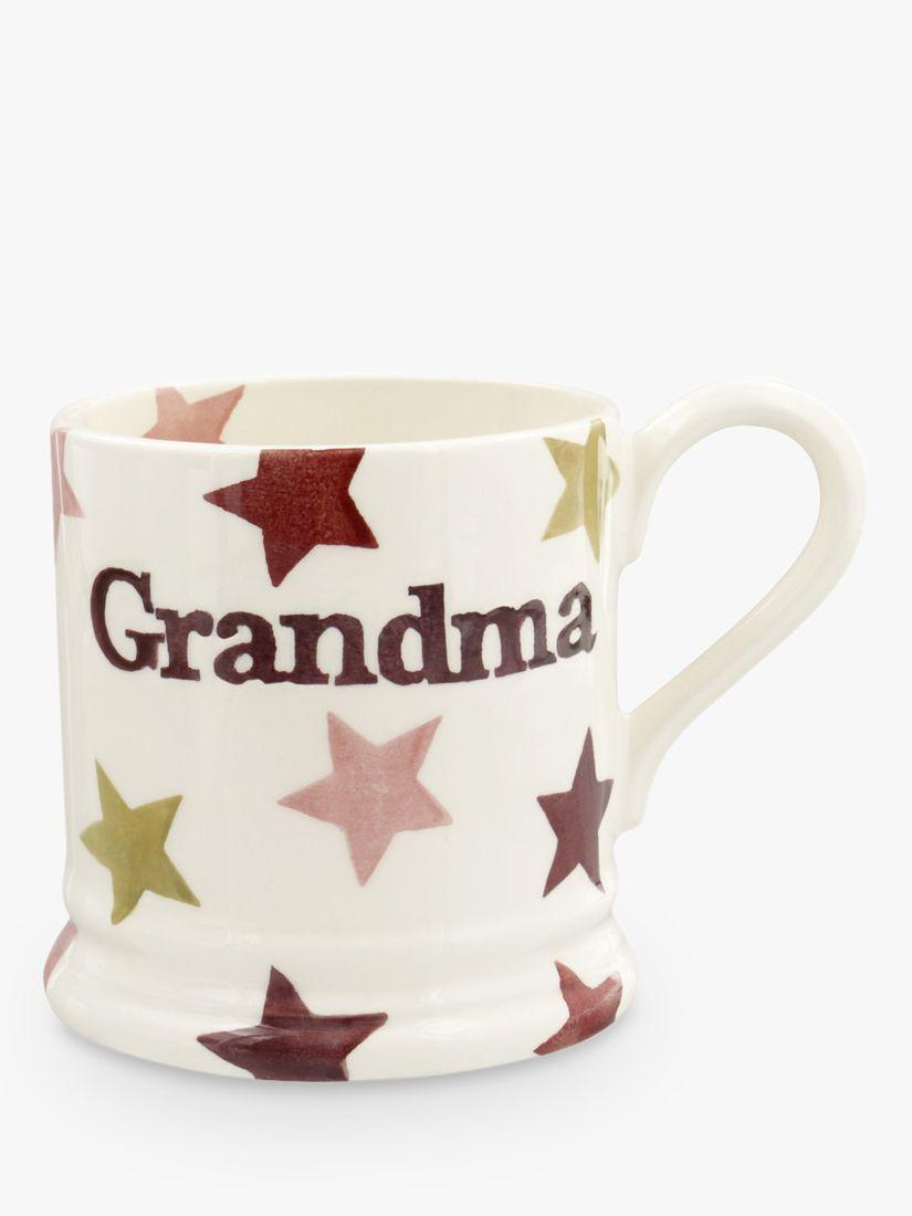 Emma Bridgewater Emma Bridgewater Star Grandma Half Pint Mug, 284ml, Pink
