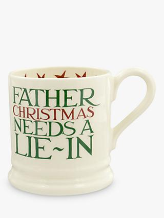 Emma Bridgewater Father Christmas Half Pint Mug, White/Multi, 284ml
