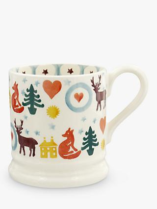 Emma Bridgewater Christmas Brights Half Pint Mug, 284ml, Multi