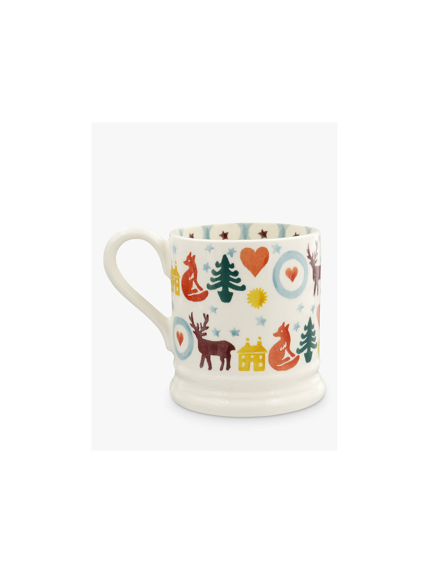 Buy Emma Bridgewater Christmas Brights Half Pint Mug, 284ml, Multi Online at johnlewis.com