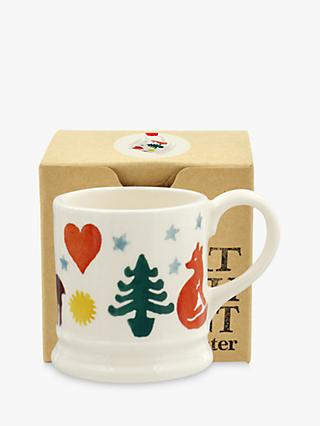 Emma Bridgewater Christmas Brights Espresso Mug, Multi, 48ml