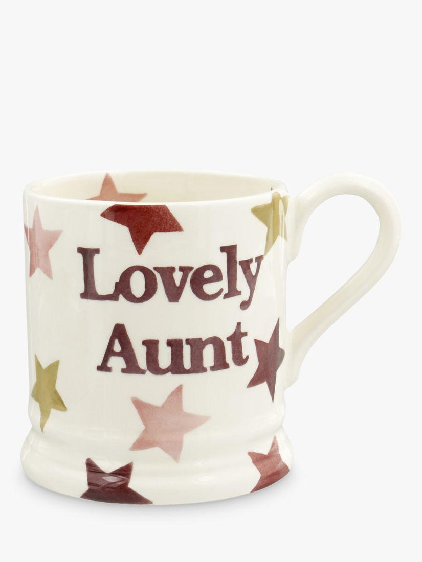 Emma Bridgewater Emma Bridgewater Lovely Aunt Star Half Pint Mug, 284ml, Pink
