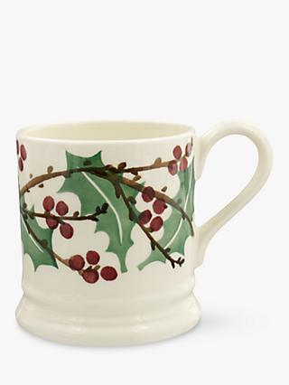 Emma Bridgewater Winterberry Half Pint Mug, White/Multi, 280ml