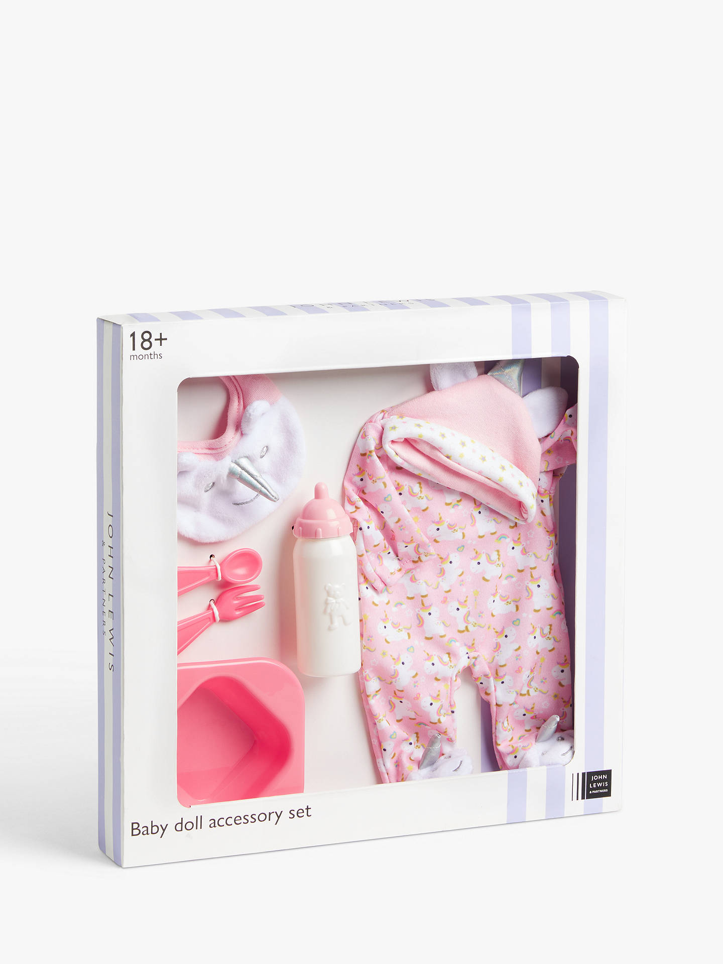 John Lewis Partners Baby Doll Unicorn