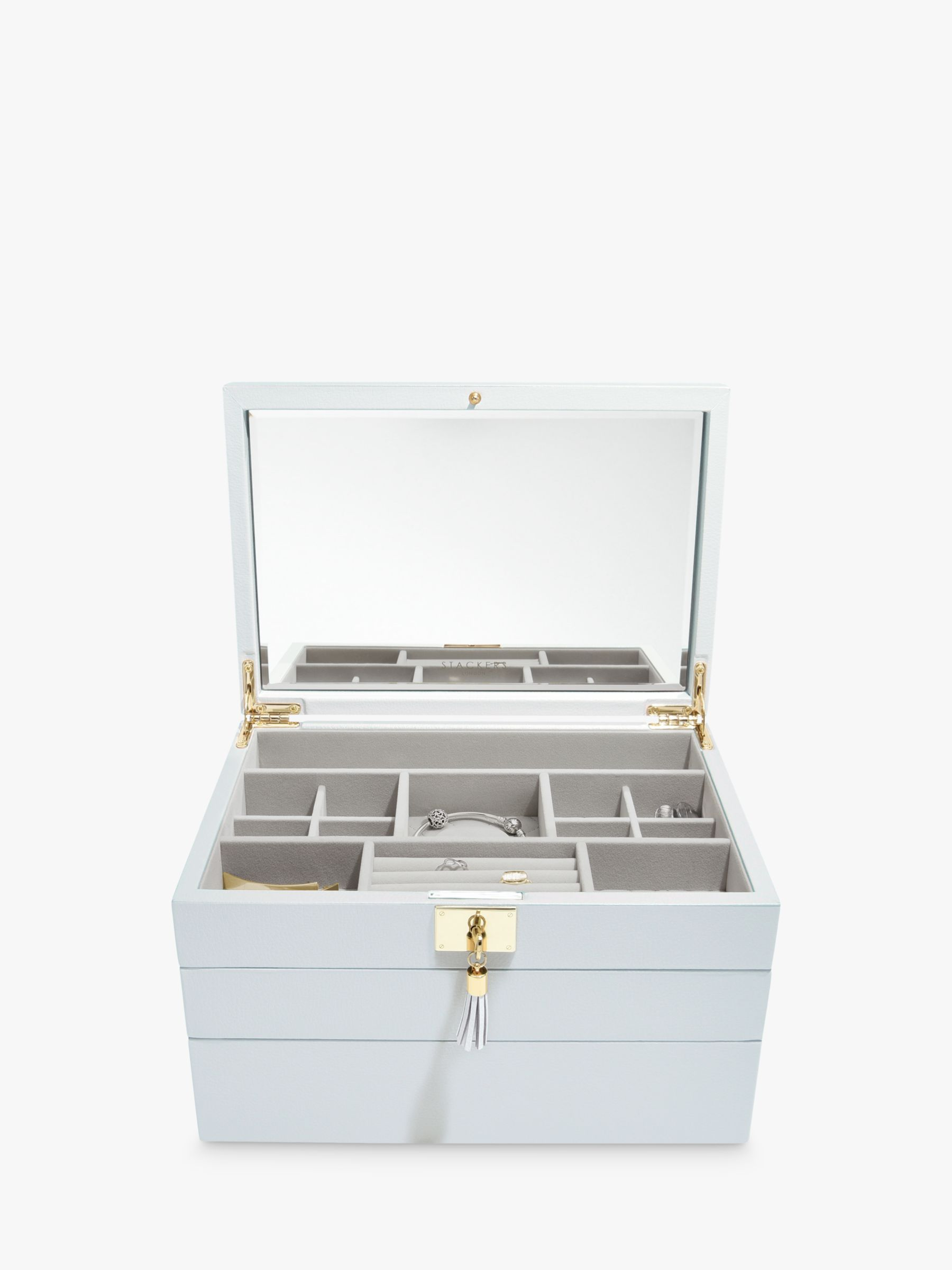 Stackers Stackers Leather 3 Set Jewellery Box