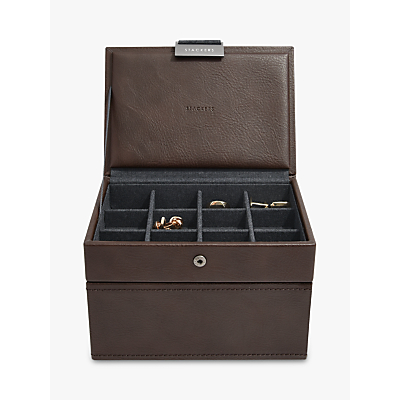 Stackers Men's Mini Watch & Cufflink Box