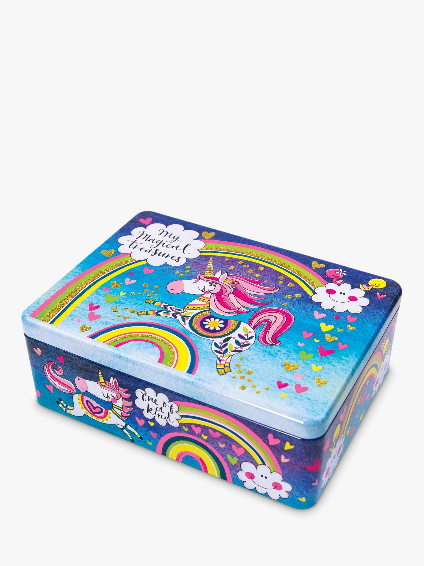 Rachel Ellen Rachel Ellen Magic Unicorn Flitter Tin Storage Box