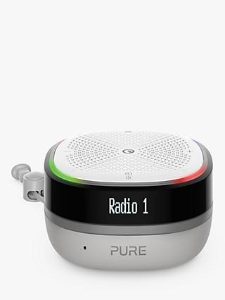 Pure StreamR Splash DAB+/FM Waterproof Bluetooth Smart Speaker with One-touch Alexa, Stone Grey