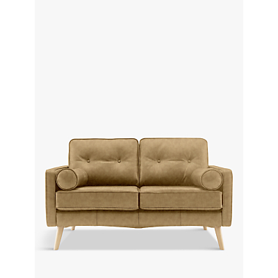 Image of G Plan Vintage The Sixty Five Small 2 Seater Leather Sofa, Regent Sand