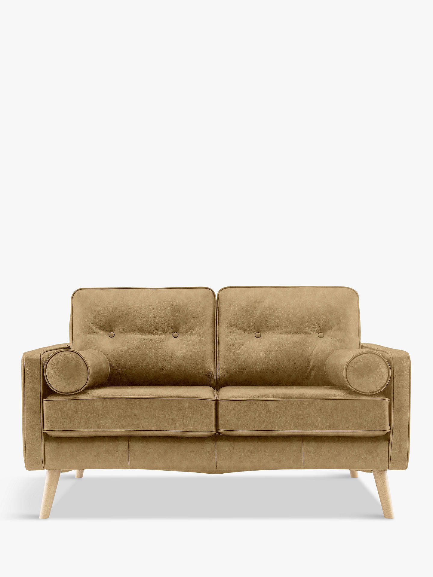 G Plan Vintage The Sixty Five Small 2 Seater Leather Sofa Regent Sand At John Lewis Partners