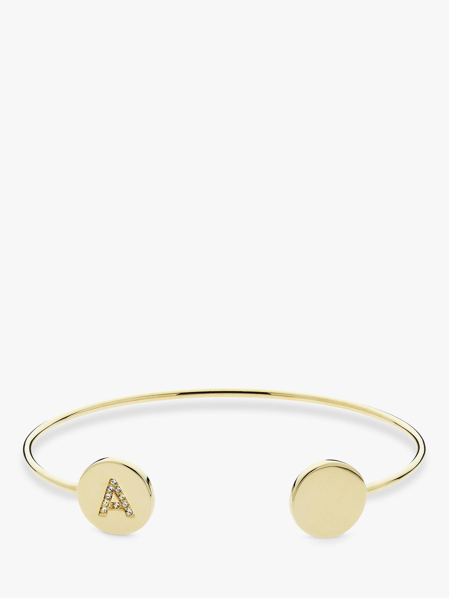 Buy Melissa Odabash Swarovski Crystal Initial Open Bangle, A Online at johnlewis.com
