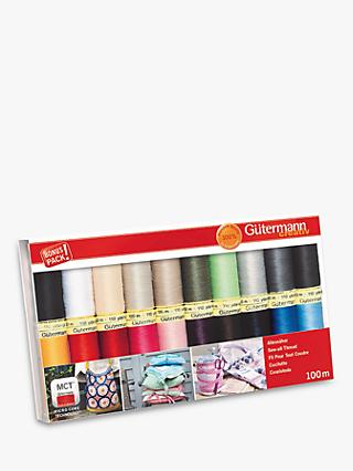 Gutermann Creativ Sewing Thread, 100m, Pack of 20, Multi