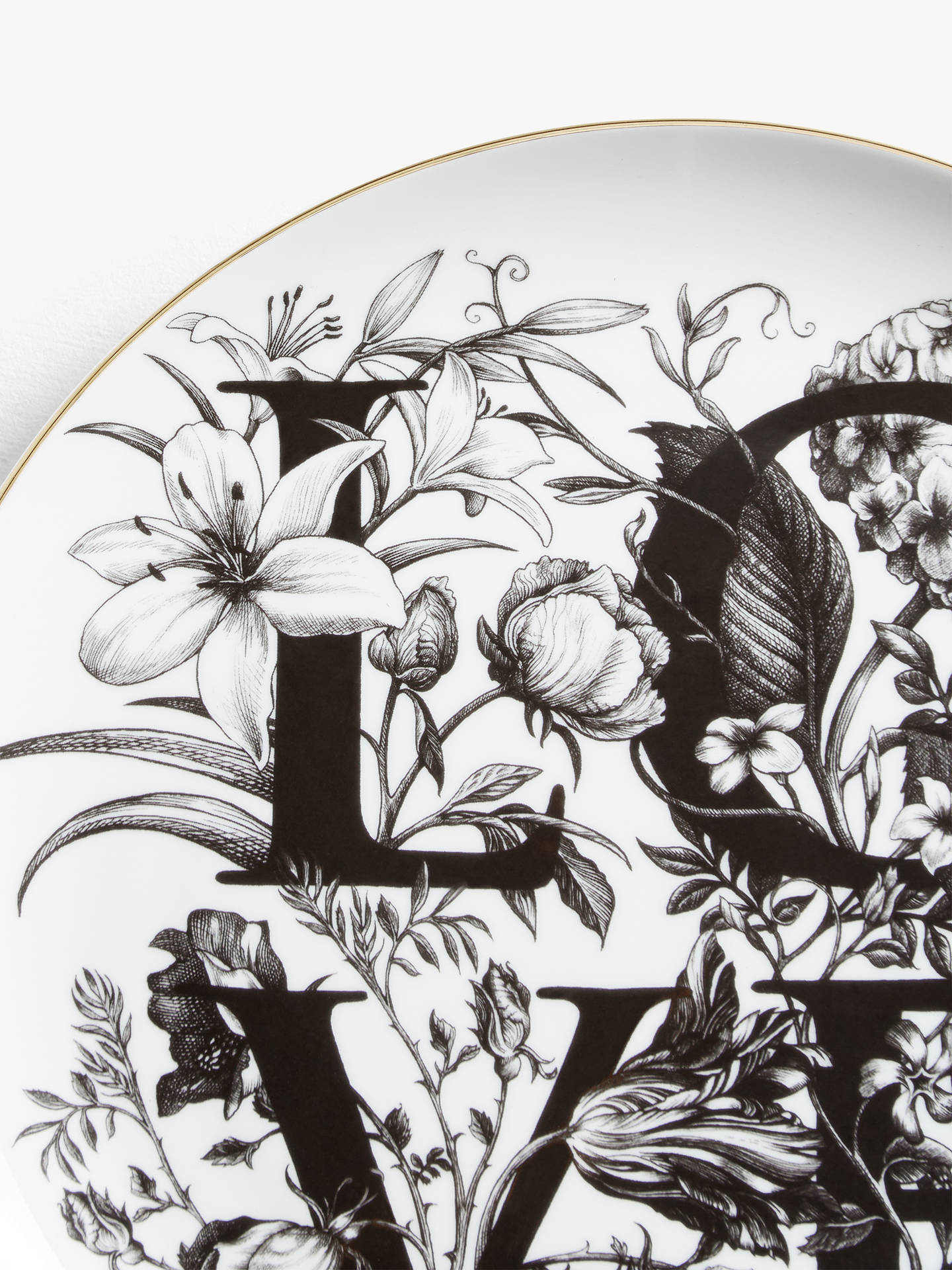 Buy Rory Dobner Love Plate, Dia.27.5cm Online at johnlewis.com