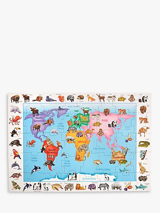 John Lewis & Partners Animals Of World Floor Jigsaw Puzzle, 40 Pieces