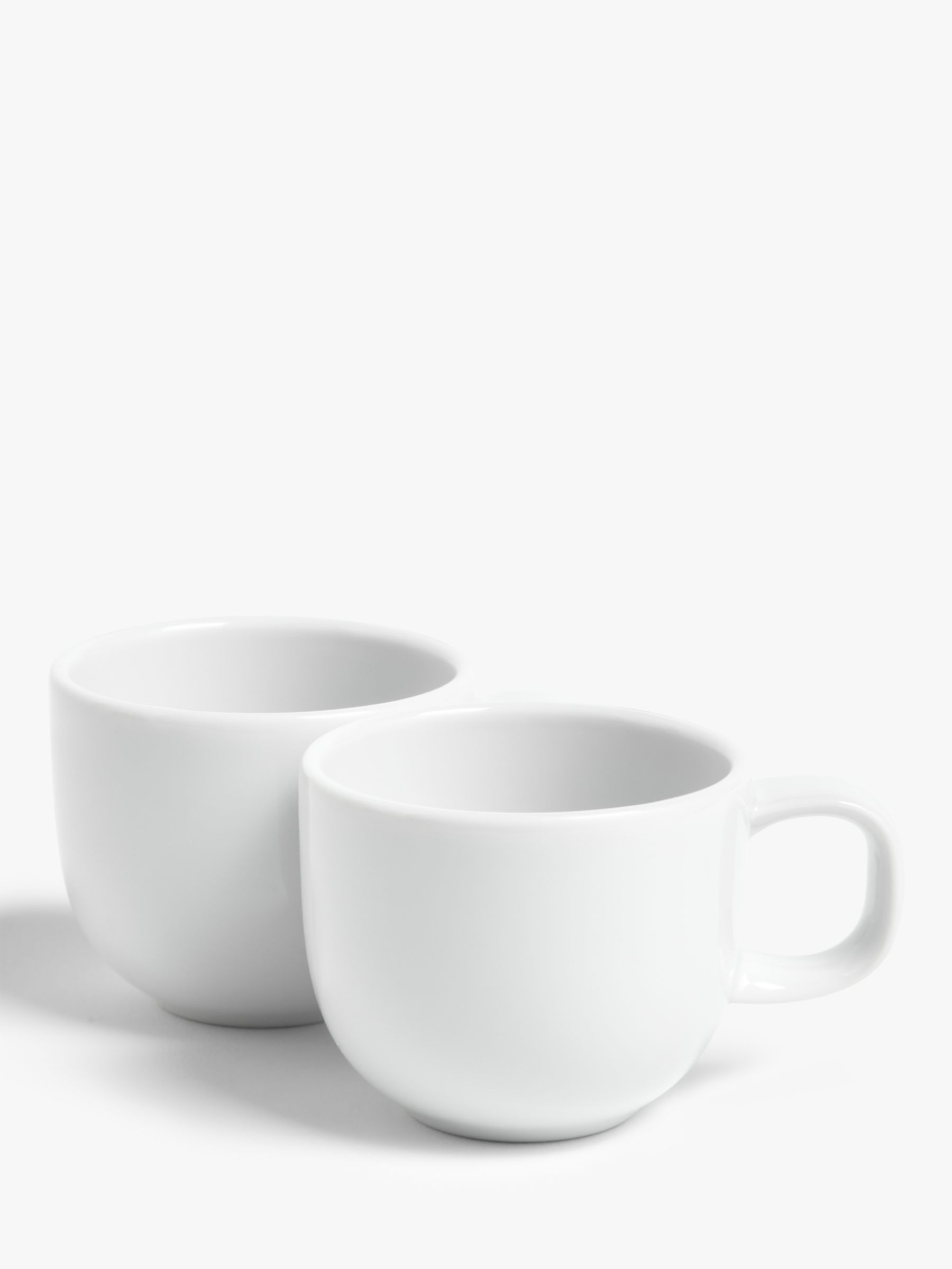 House by John Lewis House by John Lewis Eat Espresso Cups, Set of 2, White, 80ml