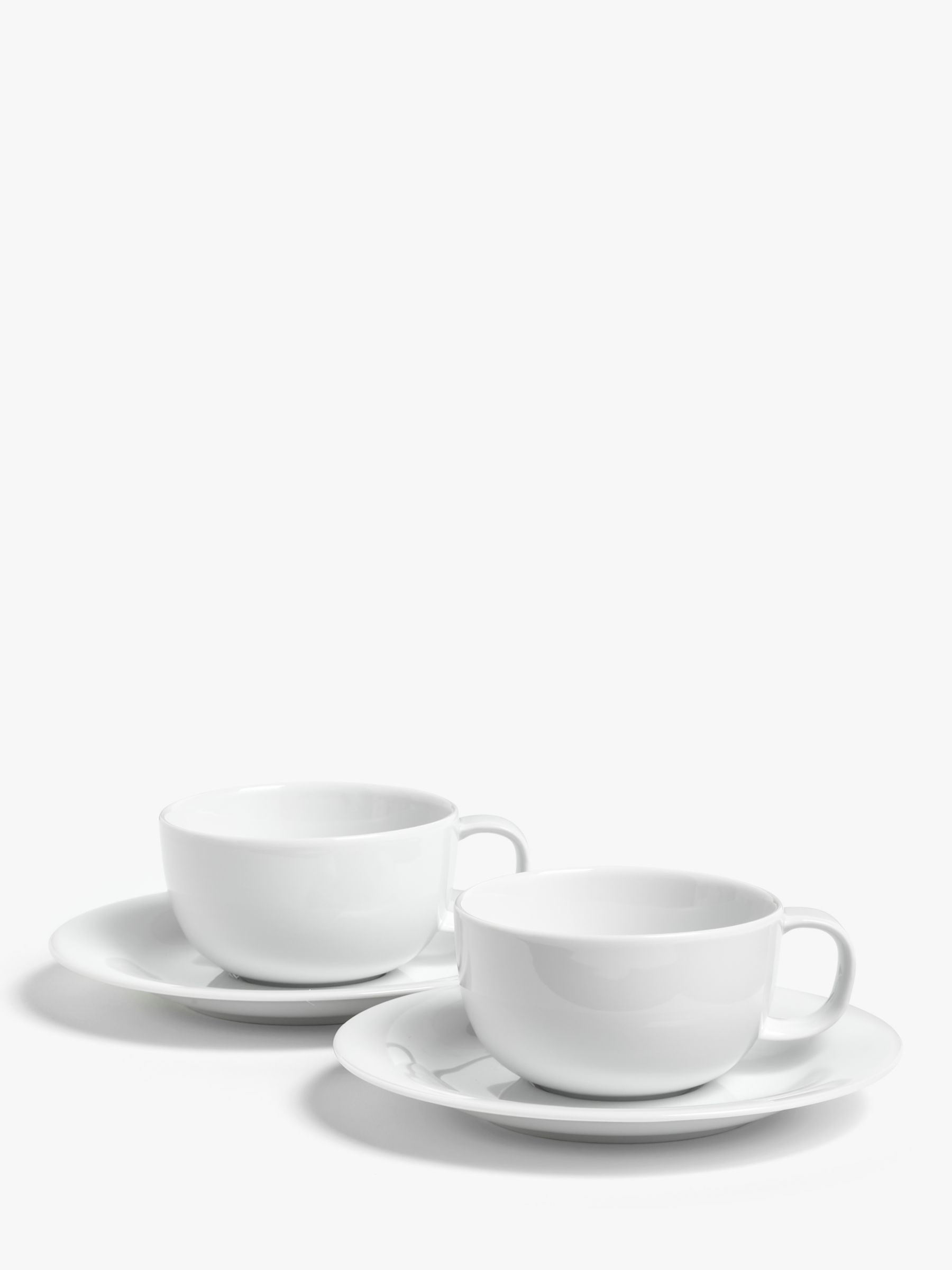 House by John Lewis House by John Lewis Eat Cup & Saucer, Set of 2, White, 270ml