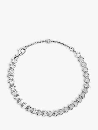 pretty nice ced2e 3f023 Links of London Endless Love Heart Chain Bracelet, Silver