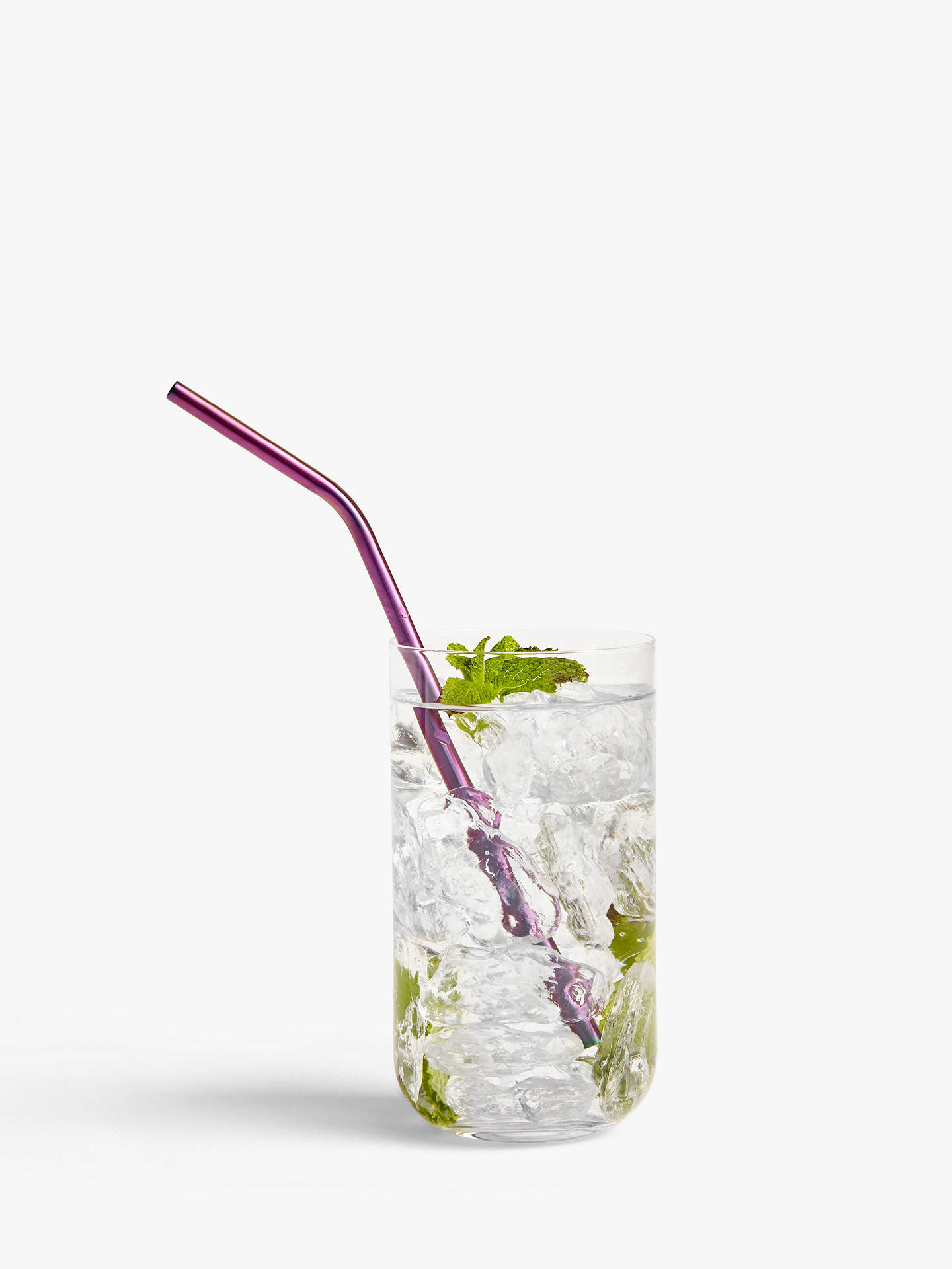 Buy John Lewis & Partners Iridescent Metal Straws, Pack of 3 Online at johnlewis.com