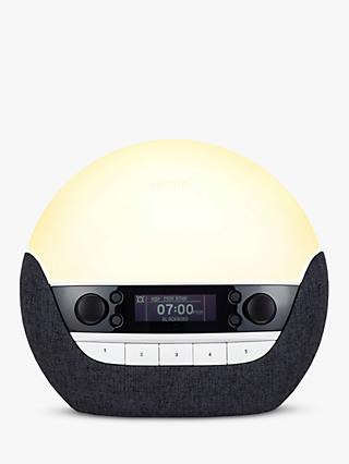 Lumie Bodyclock Luxe 750DAB Wake up to Daylight Table Lamp, Grey