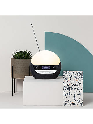 Buy Lumie Bodyclock Luxe 750DAB Wake up to Daylight Table Lamp, Dark Grey Online at johnlewis.com