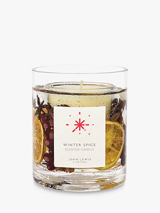 Buy John Lewis & Partners Winter Spice Scented Gel Candle, 1.170kg Online at johnlewis.com