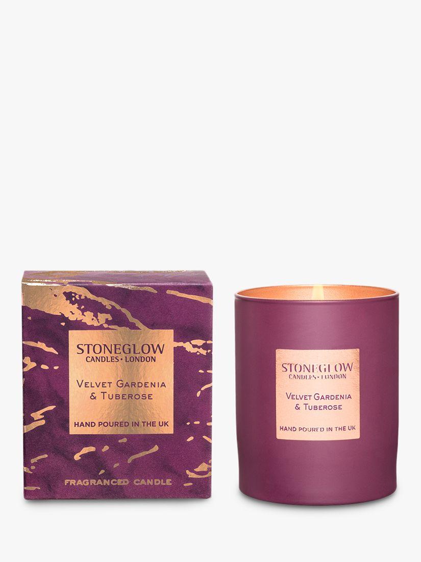 Stoneglow Stoneglow Luna Velvet Gardenia & Tuberose Scented Candle, 220g
