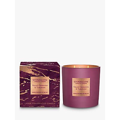 Stoneglow Luna Velvet Gardenia & Tuberose Scented Candle, 760g