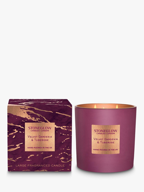 Stoneglow Stoneglow Luna Velvet Gardenia & Tuberose Scented Candle, 760g