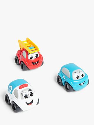 John Lewis & Partners Smiley Face Cars, Pack of 3