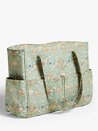 John Lewis & Partners Floral Print Craft Bag, Green
