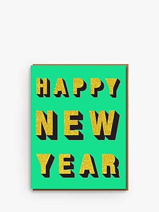 Nineteen Seventy Glitter Three Happy New Year Card