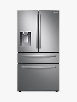 Samsung RF22R7351SR/EU American-Style Freestanding 75/25 Fridge Freezer, A+ Energy Rating, Real Stainless