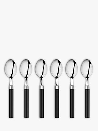 House by John Lewis Black-Handled Teaspoons, Set of 6