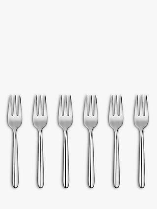 House by John Lewis Pastry Forks, Set of 6