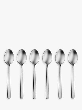 John Lewis & Partners Linear Teaspoons, Set of 6
