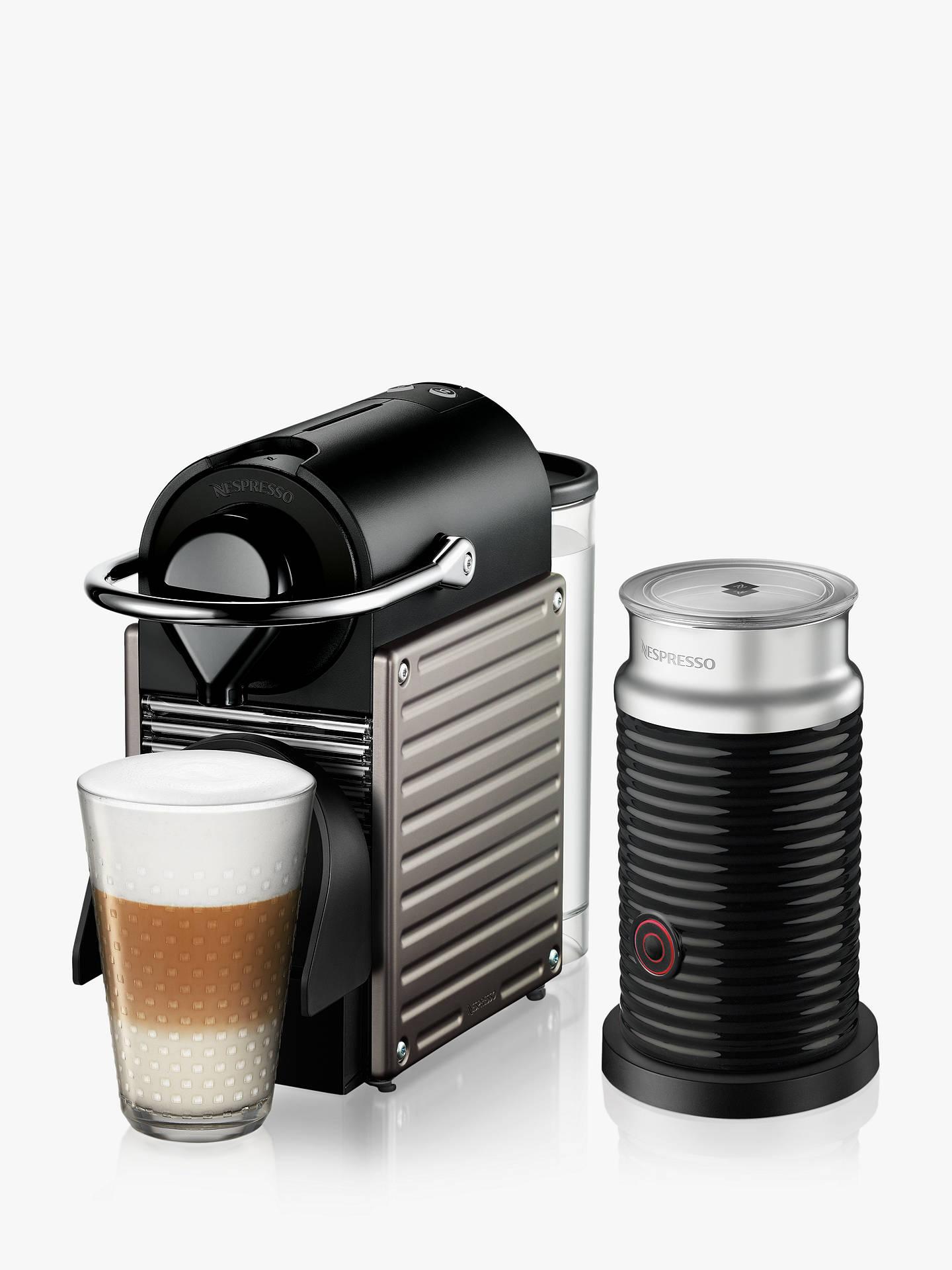 Nespresso Krups Pixie Xn305 T40 Coffee Machine & Aeroccino3 Milk Frother by Nespresso