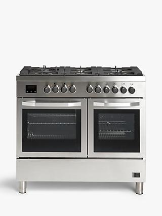 John Lewis & Partners JLRCSS120 Dual Fuel Range Cooker, Stainless Steel