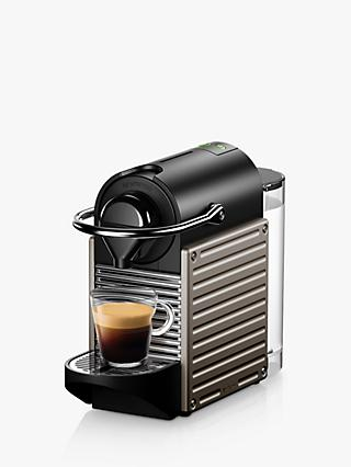 Nespresso Krups Pixie XN304T40 Coffee Machine, Titanium