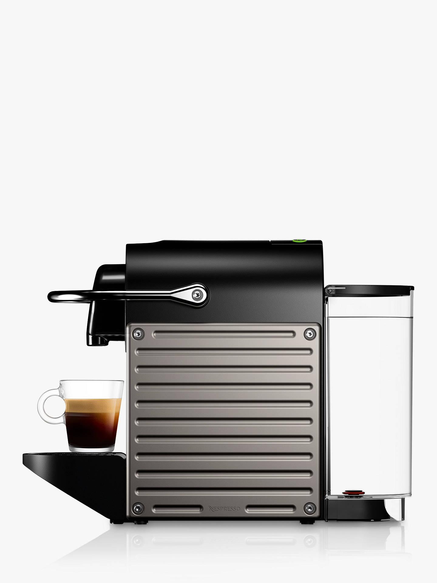 Nespresso Krups Pixie Xn304t40 Coffee Machine Titanium
