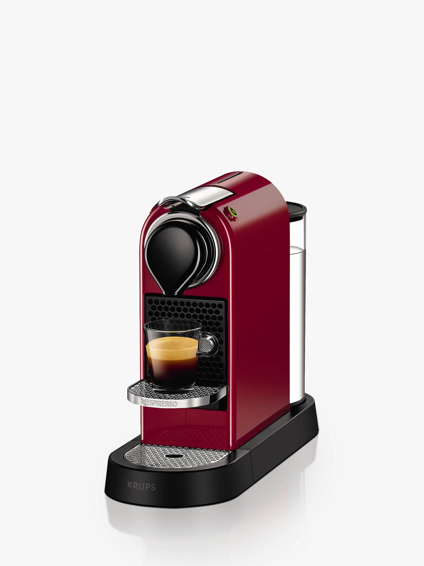 Nespresso Citiz Coffee Machine By Krups Red