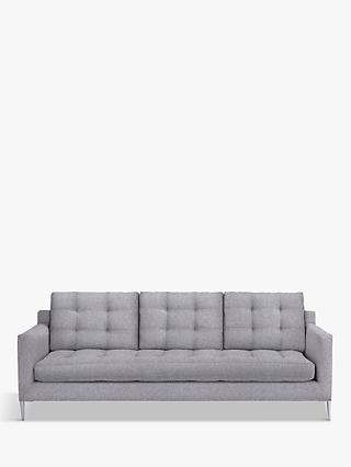 John Lewis & Partners Draper Grand 4 Seater Sofa, Light Leg, Saga Grey