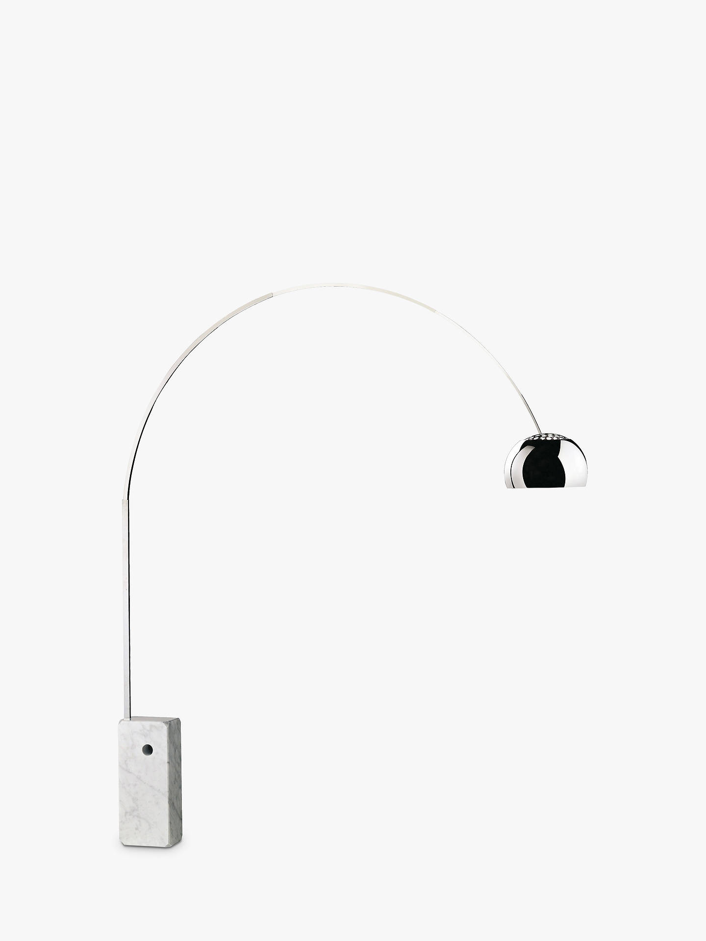 Flos Arco Dimmable LED Arched Floor Lamp, Silver