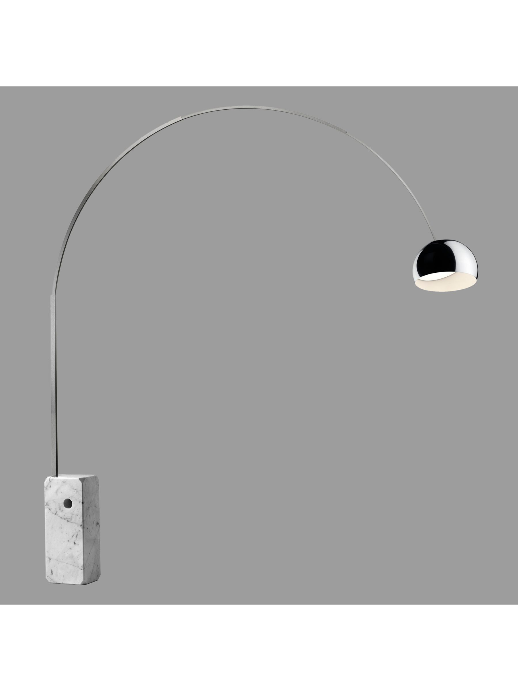 Flos Flos Arco Dimmable LED Arched Floor Lamp, Silver