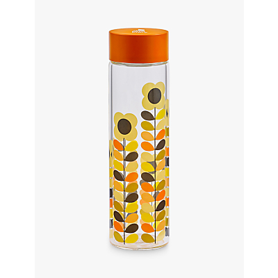 Orla Kiely Multi Stem Glass Drinks Bottle, 525ml, Orange/Multi