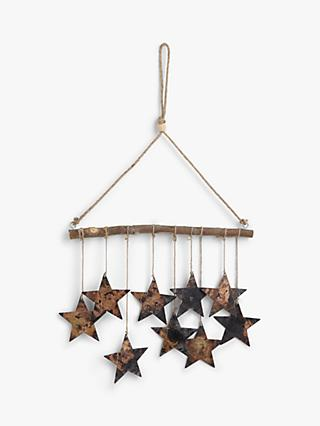 John Lewis & Partners Campfire Metal Stars Hanging Decoration