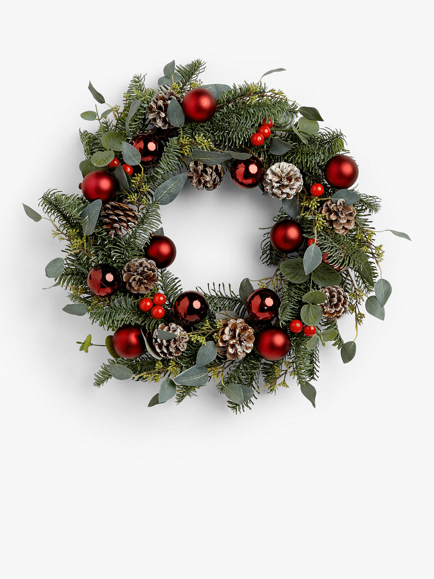 Buy John Lewis & Partners Traditions Ruby Bauble Wreath, Red Online at johnlewis.com