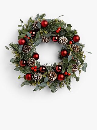 Christmas Wreath.Christmas Wreaths Garlands Buy Wreaths At John Lewis