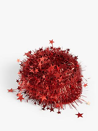 John Lewis & Partners Star Tinsel Garland