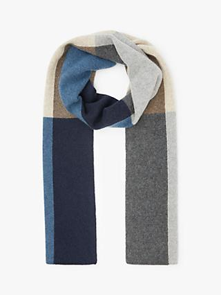 John Lewis & Partners Colour Block Cashmere Scarf, Multi