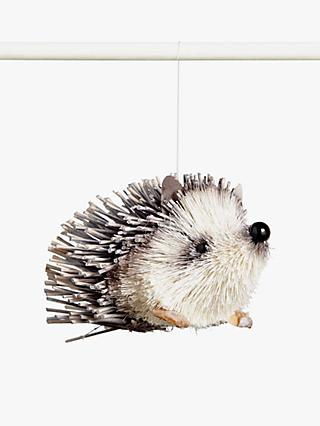 John Lewis & Partners Garden Retreat Hedgehog Tree Decoration, Brown